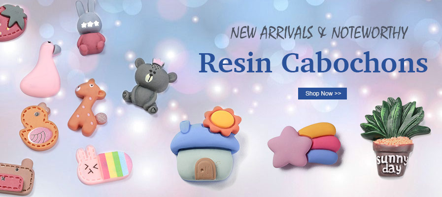 New Arrivals Resin Cabochons