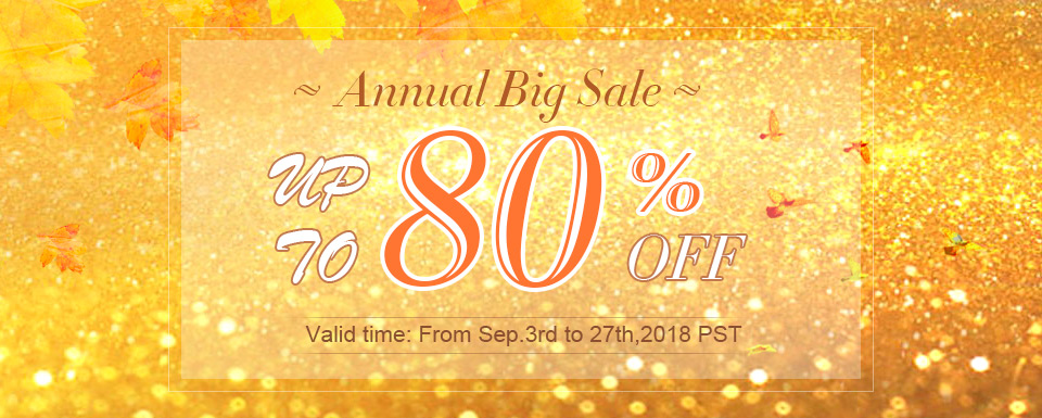 Annual Big Sale Up To 80% OFF