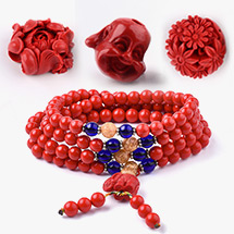 Bone & Cinnabar Beads