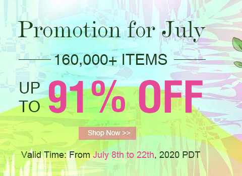 Promotion for Summer Up To 91% OFF