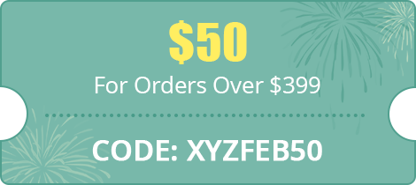 $50 For Orders Over $399