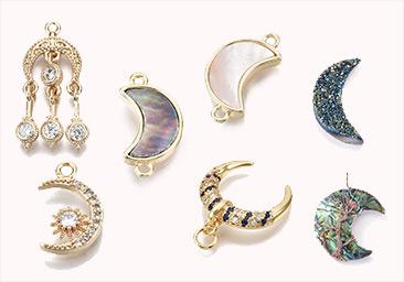 Moon Jewelry Findings