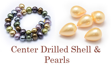 Center Drilled Shell & Pearls