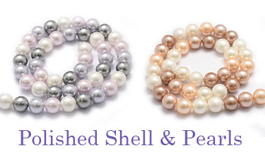 Polished Shell & Pearls