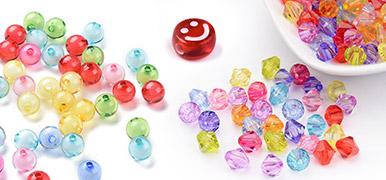 Transparent Acrylic Beads