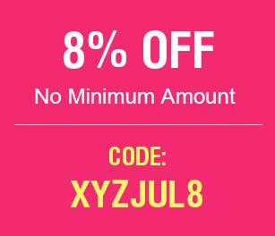 8% OFF No Minimum Amount
